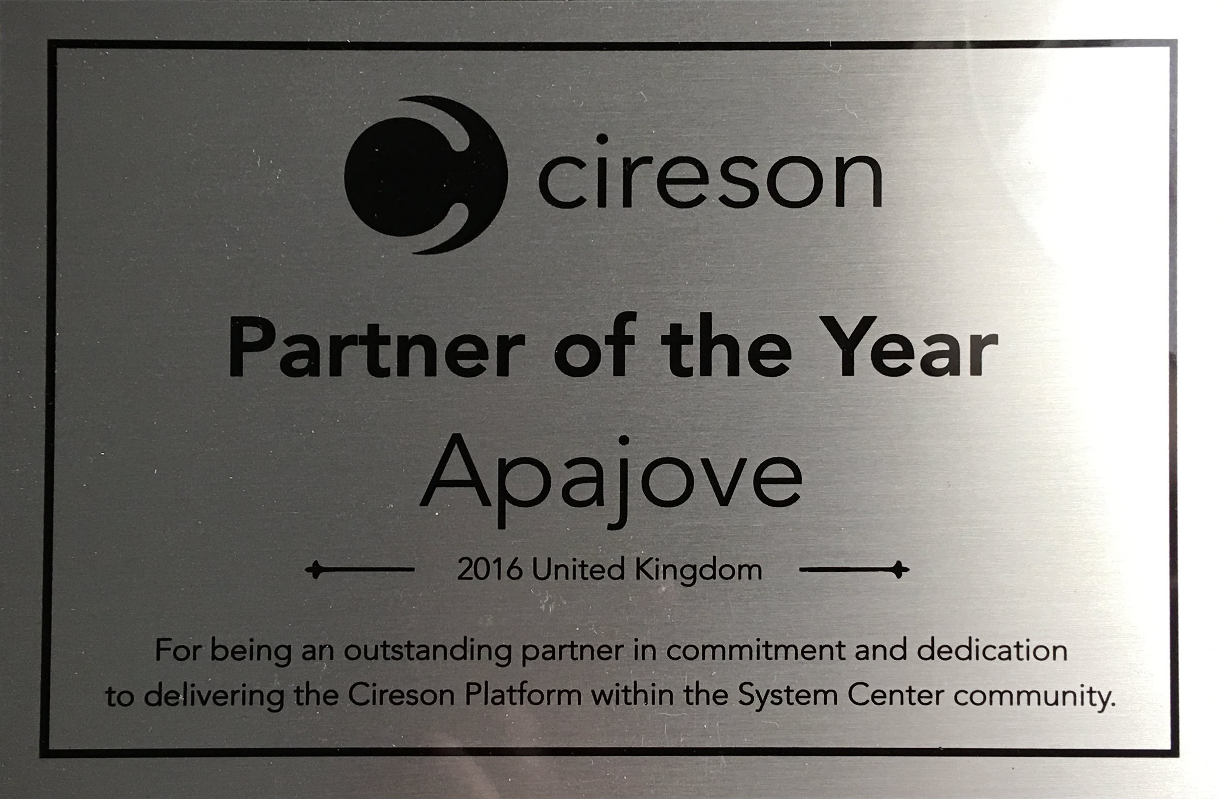 Cireson Partner of the Year